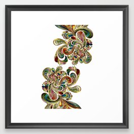 Liquid Bling Paisley Tattoo Framed Art Print
