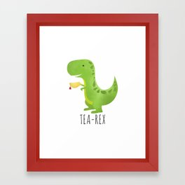 Tea-Rex Framed Art Print