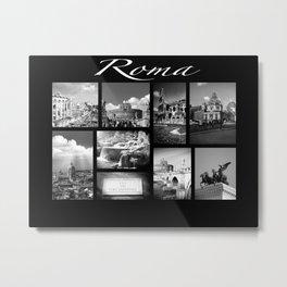 Rome Poster black and white Metal Print