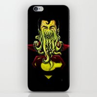 cthulu iPhone & iPod Skins featuring SuperCthulhu by 6amcrisis