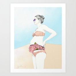 Ale at the Beach Art Print