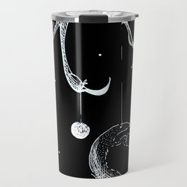 Queen of the Planets - White Ink Travel Mug
