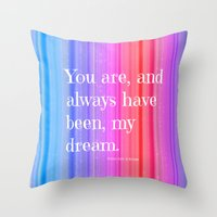 notebook Throw Pillows featuring Nicholas Sparks Notebook quote by Laura Santeler