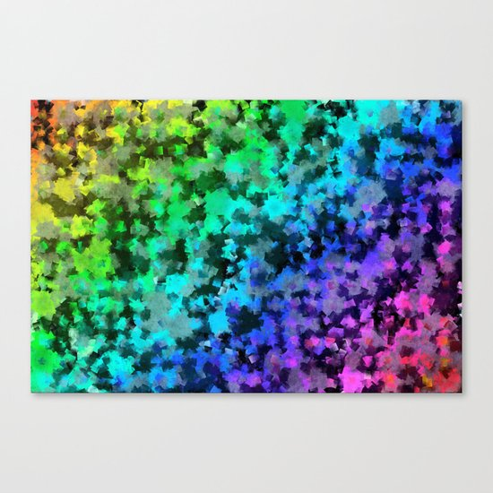 Starrider -- Abstract cubist color expansion Canvas Print