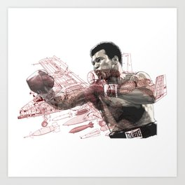 """Float like a Warhog"" ALI Art Print"