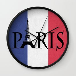 Grunge Paris Wall Clock