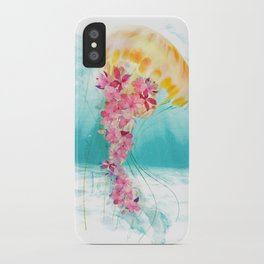 Jellyfish with Flowers iPhone Case