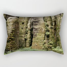 Natural green wall Rectangular Pillow