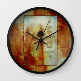 Gardener of your Soul Painted Flower Art Wall Clock
