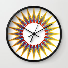 A large Colorful Christmas snowflake- holiday season gifts- Happy new year gifts Wall Clock