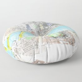 Aerial Floor Pillow