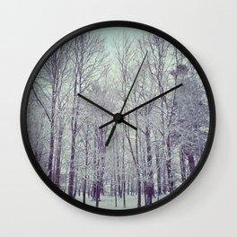 Misty Trees Wall Clock
