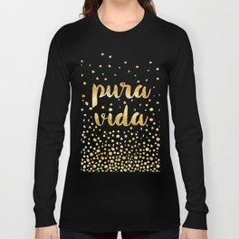 Pura Vida Gold on Teal Long Sleeve T-shirt