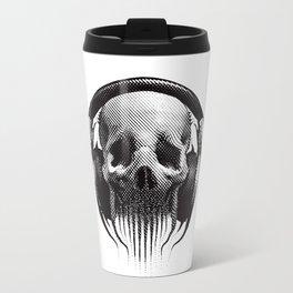 Alien Skull Listening to Music on Pro Beats Travel Mug