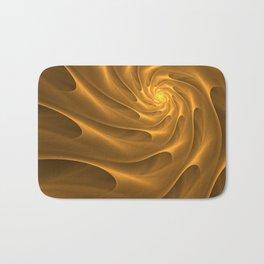 Gold Sahara. Hot desert. Sand dunes. Abstract golden spiral Bath Mat