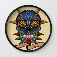 majora Wall Clocks featuring La Santa Majora by Faniseto