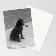 Pipe puffing dog. Stationery Cards