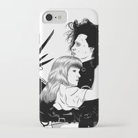 edward scissorhands iPhone & iPod Cases featuring Edward Scissorhands by Gregory Casares