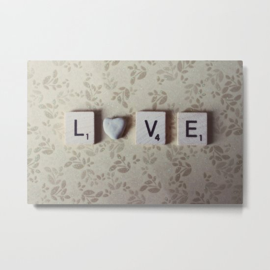 rock love Metal Print