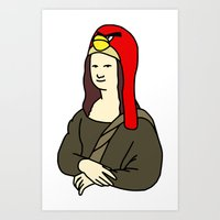 Mona Lisa Х Angry Birds Art Print