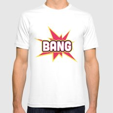 BANG! Mens Fitted Tee MEDIUM White