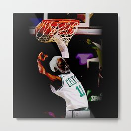 "Kyrie "" Uncle Drew "" Irving Dunk Art Metal Print"