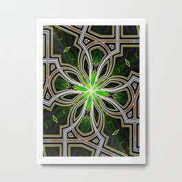 Stain glass Star window* Metal Print