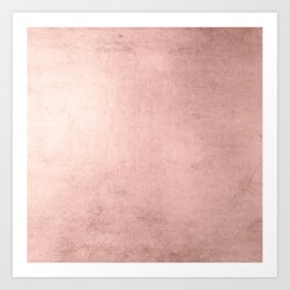 Blush Rose Gold Ombre Art Print