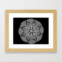 lace round ornament 3 Framed Art Print