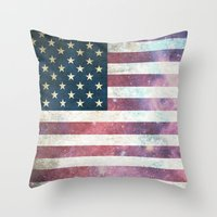 patriotic Throw Pillows featuring PATRIOTIC by alfboc