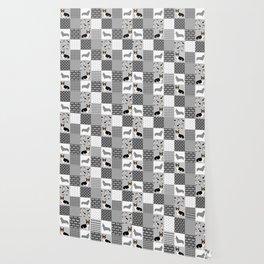 Tricolored Corgi Patchwork - classic buffalo plaid, plaid, dog dad, dog lover, dog design, cute dogs Wallpaper