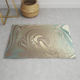 Mermaid Gold Wave Rug