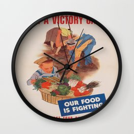 Vintage poster - Victory Garden Wall Clock