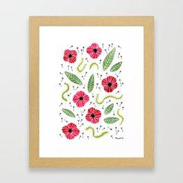 Poppies again Framed Art Print