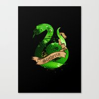 slytherin Canvas Prints featuring Slytherin by Markusian