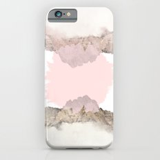 Pale Pink on Mountains Slim Case iPhone 6