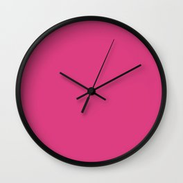 Lovely Roses ~ Lipstick Pink Wall Clock
