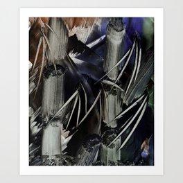 Bamboo Abstract in Encaustics Art Print