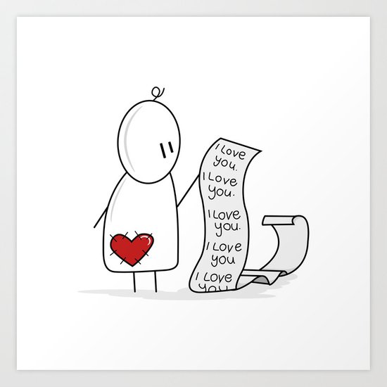 I Love You... A Lot. Art Print