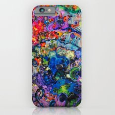 Youthful Discretions - Abstraction Improvisational Painting iPhone 6s Slim Case