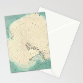 Vintage Map of Antarctica (1922) Stationery Cards