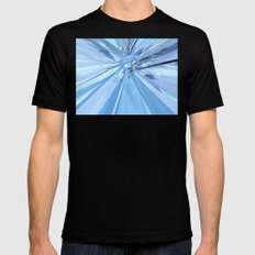 Blue Crystals Black Mens Fitted Tee MEDIUM