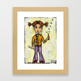 CLEMENTINE WITH CHOPSTICKS Framed Art Print
