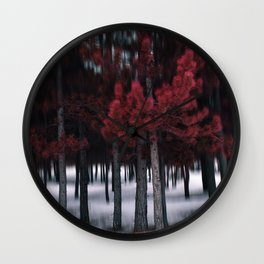 the red forest Wall Clock