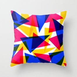 CMYK Shard Throw Pillow