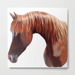 Chestnut Horse Head Metal Print