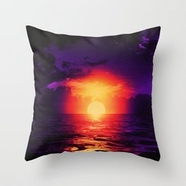 Fire purple cloud by #Bizzartino Throw Pillow
