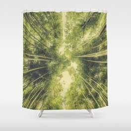 Bamboo Forest III Shower Curtain