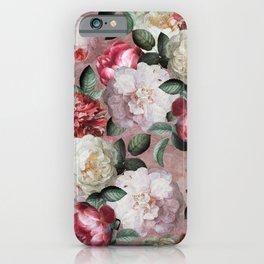 Vintage & Shabby Chic - Jan Davidsz. de Heem Roses On Mauve iPhone Case