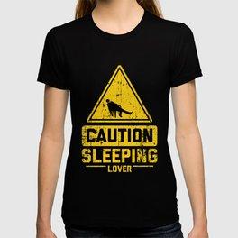 CAUTION SLEEPING LOVER T-shirt